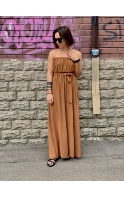 Карамельное платье Zuiki (Италия)