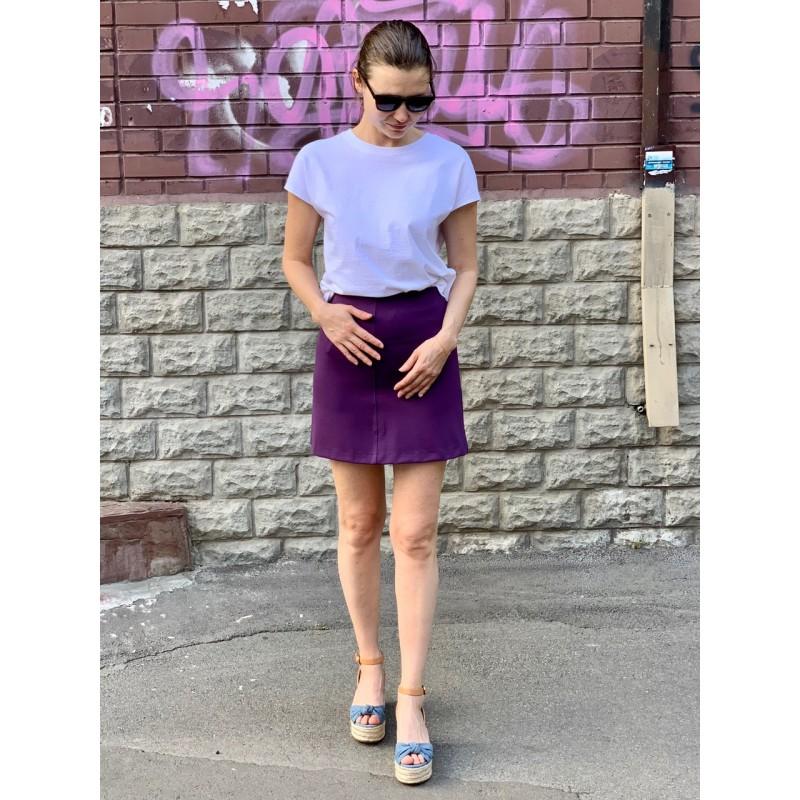 Фиолетовая юбка H&M