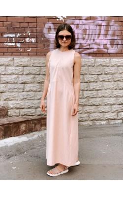 Персиковое платье от дизайнерской коллаборации Uniqlo + Hana Tajima