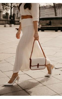 Бежевая кружевная юбка от дизайнерской коллабориции Uniqlo + INES DE LA FRESSANGE