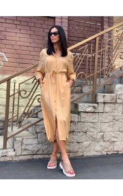 Платье-рубашка Uniqlo U макси