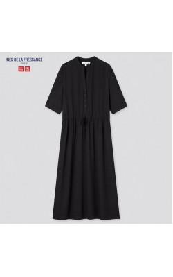 Платье Uniqlo+Ines De La Fressange черное из вискозы