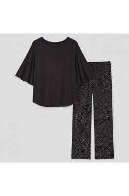 Костюм для дома Uniqlo кофта и штаны черные