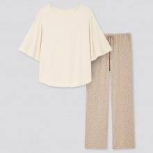 Костюм для дома Uniqlo кофта и штаны светлые