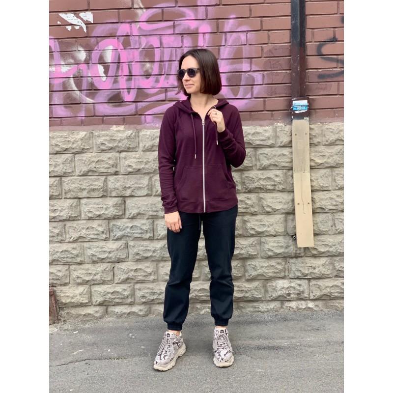 Женская бордовая спортивная кофта Calvin Klein