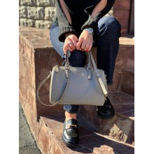 Сумка DKNY серая Bryant medium textured-leather tote