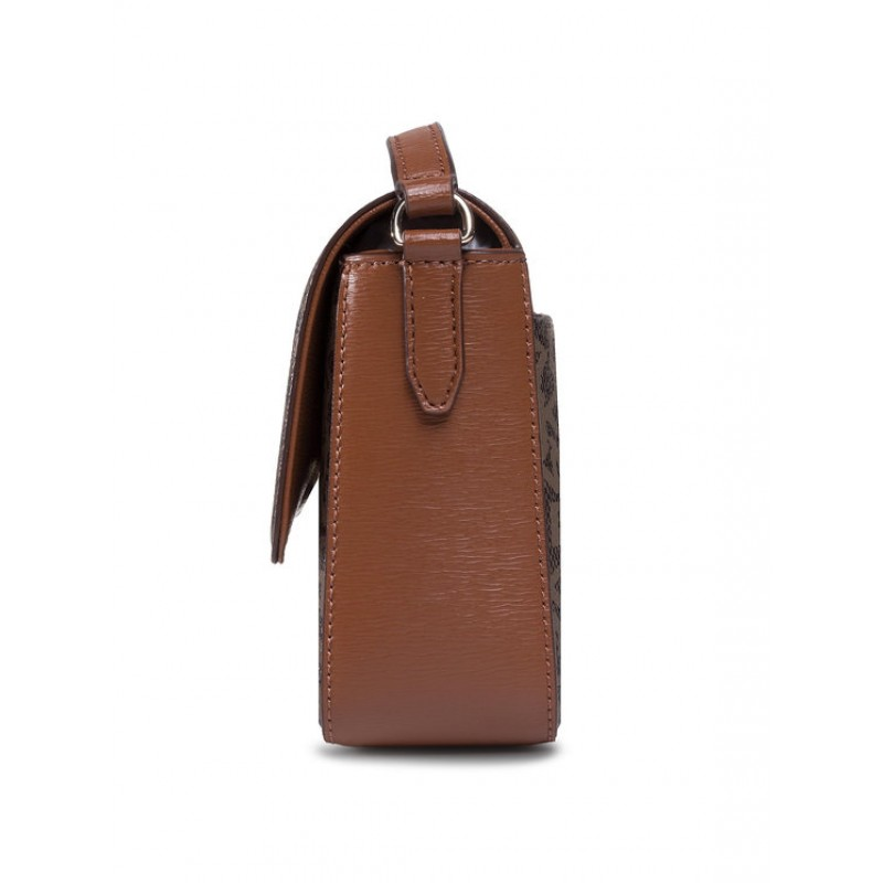 Сумка DKNY коричневая Bryant Leather Medium Flap