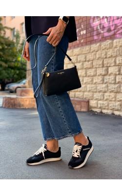 Сумочка Karl Lagerfeld Paris черная Heather Crossbody