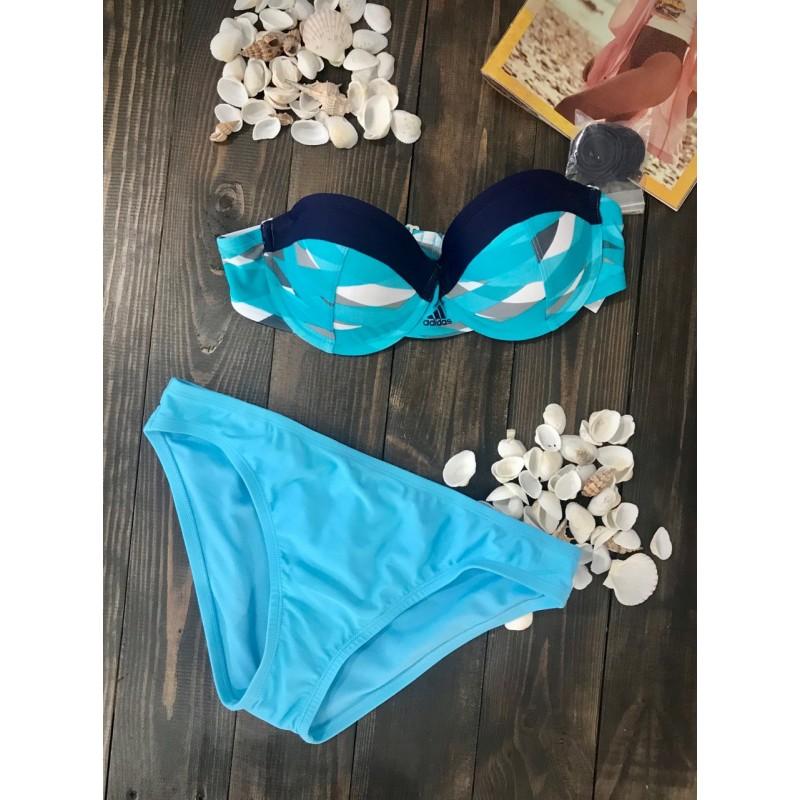 Голубой  купальник Adidas