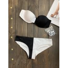 Черно-белый купальник Victoria's Secret