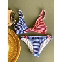 Красно-синий купальник Abercrombie&Fitch