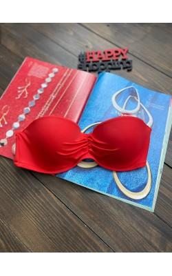 Верх от купальника Victoria's Secret красный бандео