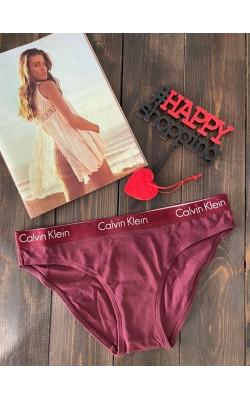 Бордовые трусики-бикини от Calvin Klein