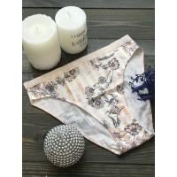 Трусики бикини Victoria's Secret белые в принт