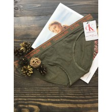 Оливковые трусики-бикини Calvin Klein