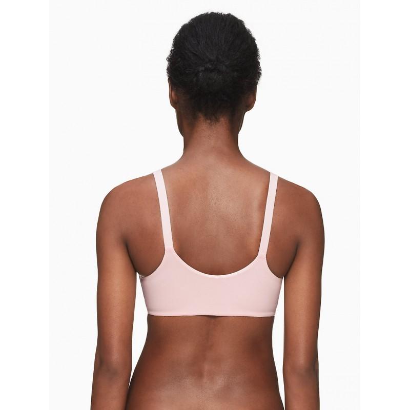Нежно-розывый бра без косточек Calvin Klein