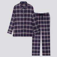Женская фланелевая пижама в клетку для дома Uniqlo