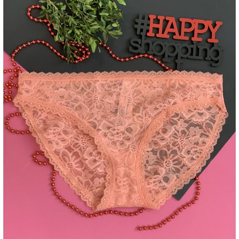 Розовые ажурные бикини Victoria's Secret