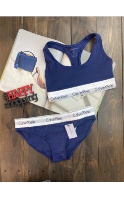 Комплект нижнего белья Calvin Klein синий (бикини)