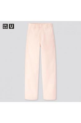 Широкие светлые брюки Uniqlo