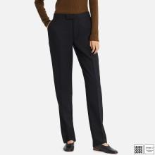 Шерстяные темно-серые брюки Uniqlo