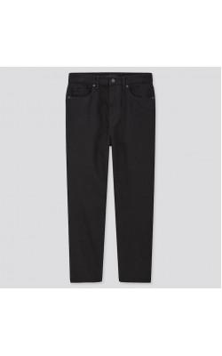 Черные джинсы с высокой посадкой Uniqlo