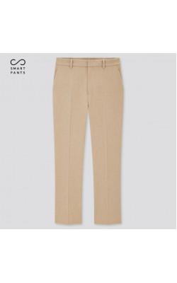 Бежевые укороченные брюки Uniqlo со стрелками