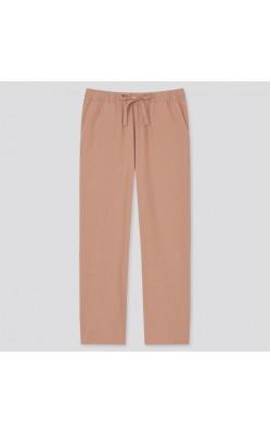 Легкие коричневые хлопковые штаны Uniqlo