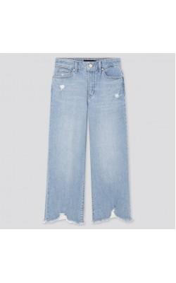 Широкие голубые джинсы с высокой посадкой Uniqlo