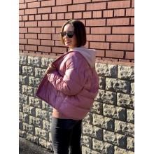 Куртка Uniqlo розовая oversized на пуху