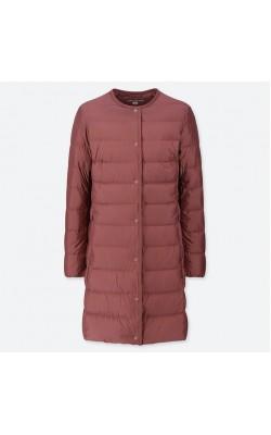 Пальто Uniqlo бордовое ультралегкое на пуху