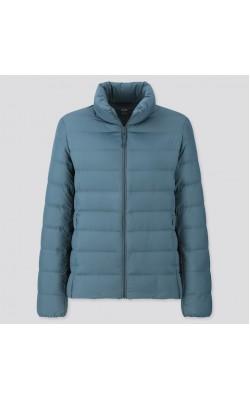 Куртка Uniqlo на пуху ультралегкая темно-бирюзовая