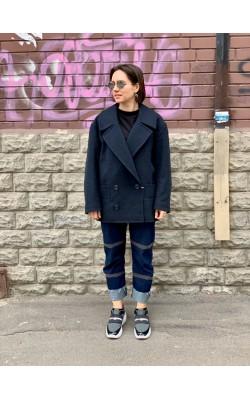 Графитовое шерстяное пальто Uniqlo