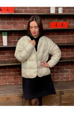 Куртка Uniqlo светлая oversized на пуху
