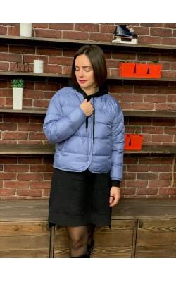 Куртка Uniqlo лиловая oversized на пуху