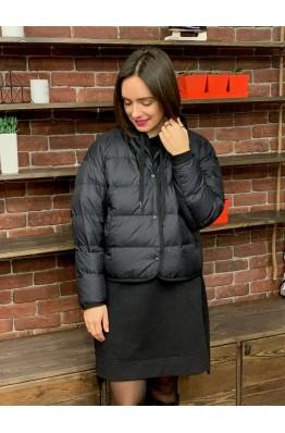 Куртка Uniqlo черная oversized на пуху