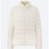 Бежевая легкая куртка на пуху Uniqlo
