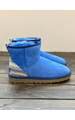 Синие замшевые сапоги UGG